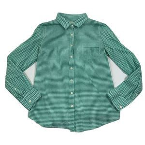 J. CREW The Perfect Shirt Green Check Button Down